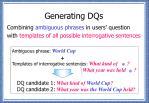 generating dqs