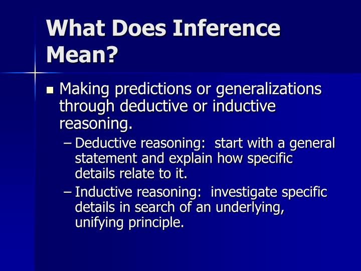 What Does Inference Mean?