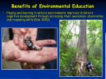 benefits of environmental education47