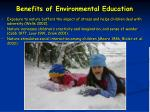 benefits of environmental education48