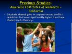 previous studies american institutes of research california19