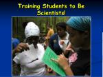 training students to be scientists