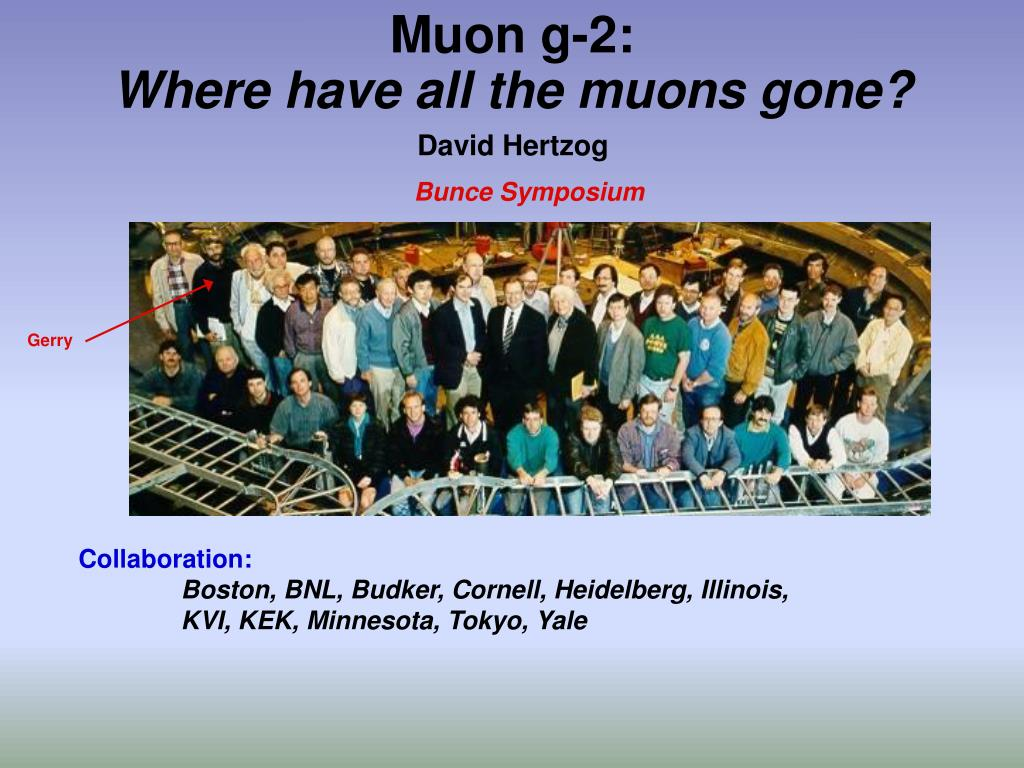 muon g 2 where have all the muons gone l.