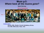 muon g 2 where have all the muons gone