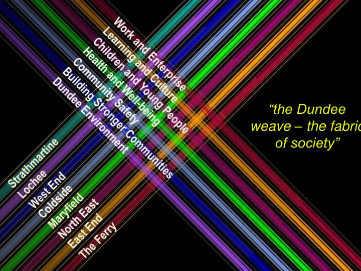 """the Dundee weave – the fabric of society"""