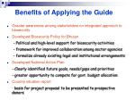 benefits of applying the guide