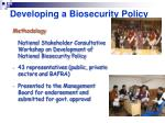 developing a biosecurity policy31