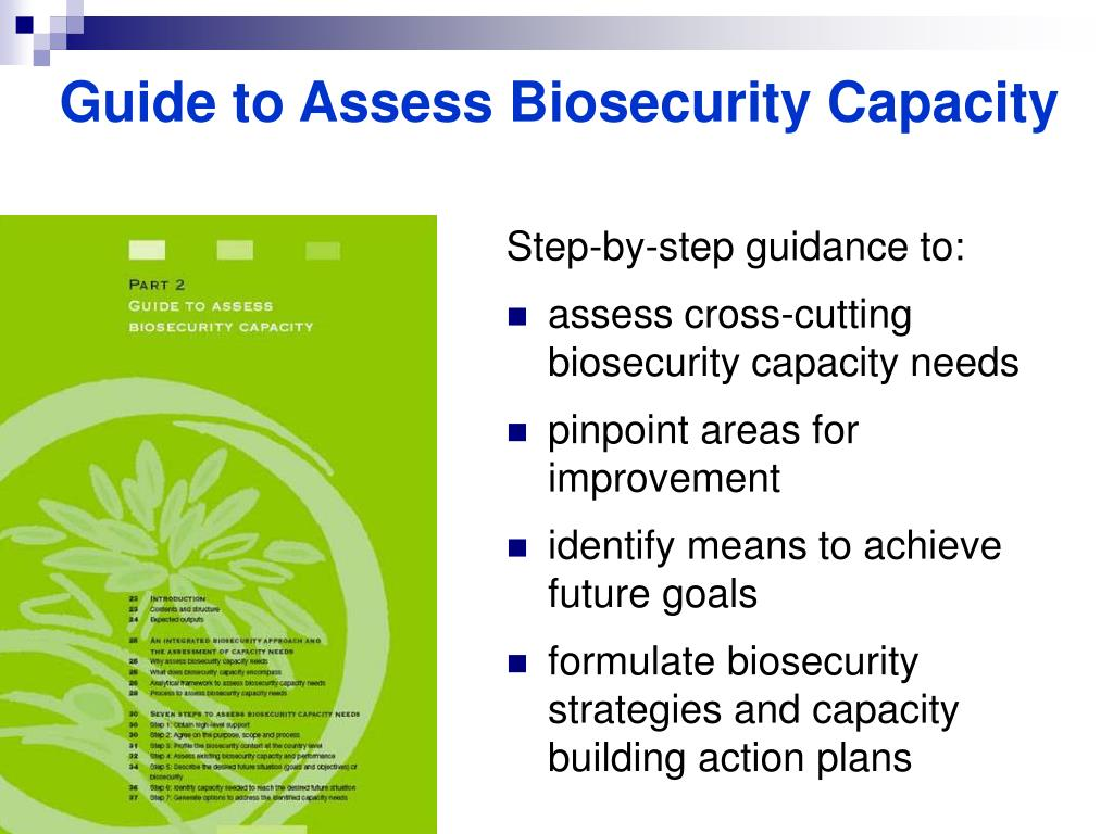 Guide to Assess Biosecurity Capacity