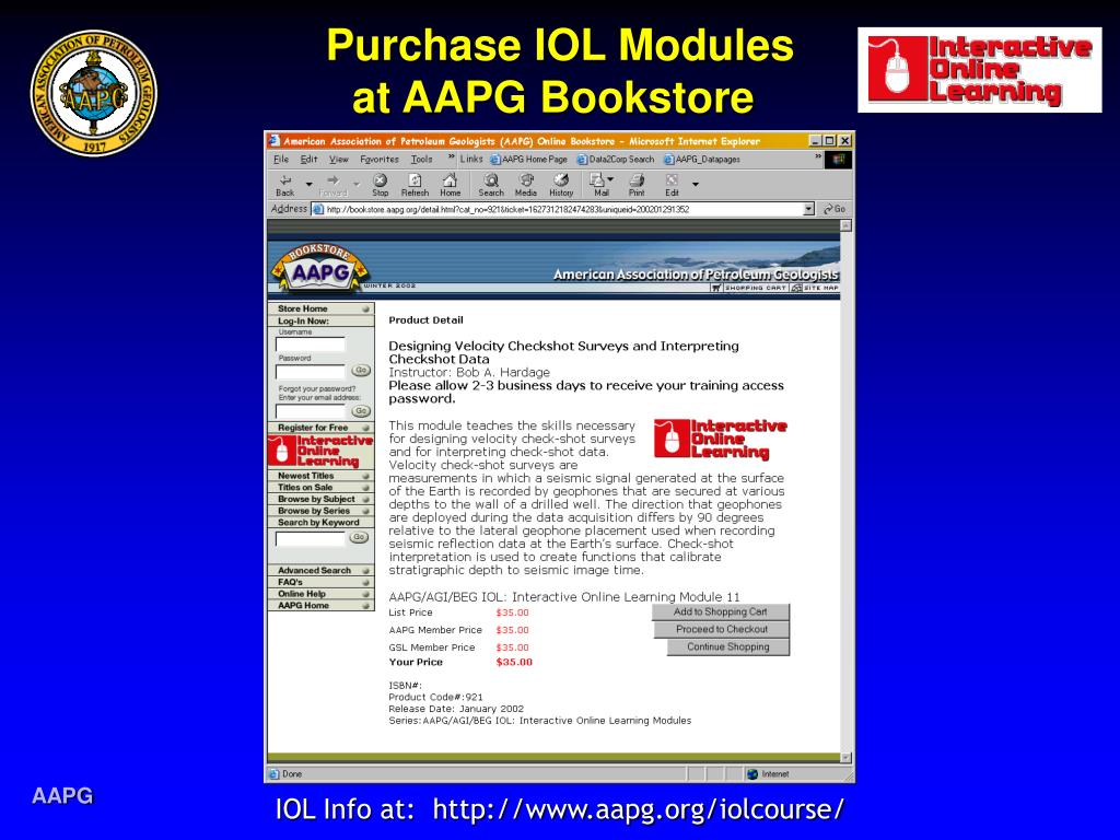 purchase iol modules at aapg bookstore l.