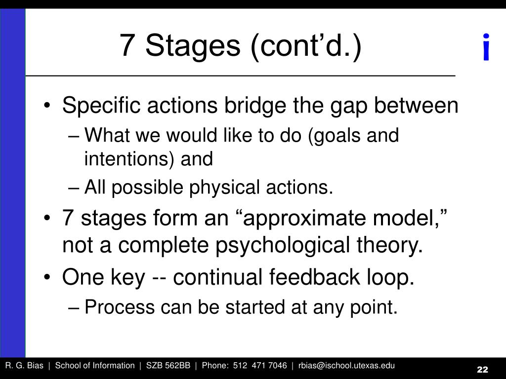 7 Stages (cont'd.)
