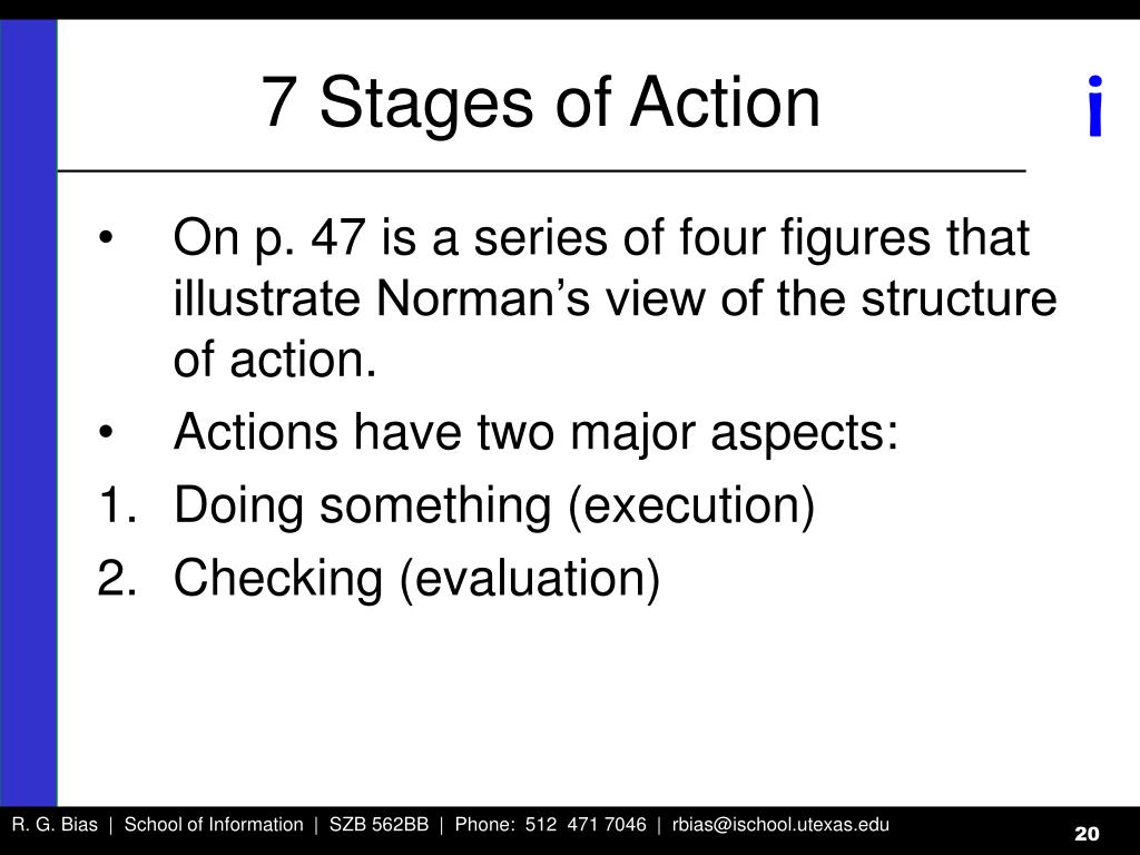 7 Stages of Action