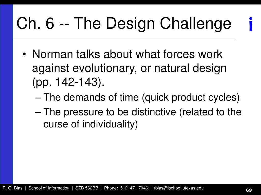 Ch. 6 -- The Design Challenge