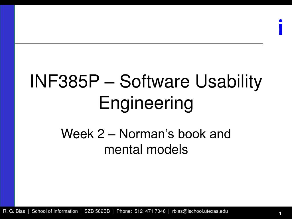 inf385p software usability engineering l.