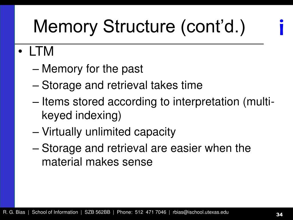 Memory Structure (cont'd.)