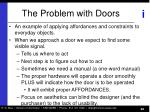 the problem with doors
