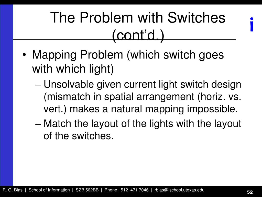 The Problem with Switches (cont'd.)