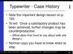 typewriter case history