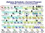 delivery schedule current program fy05 pb lots 3 10 current projection