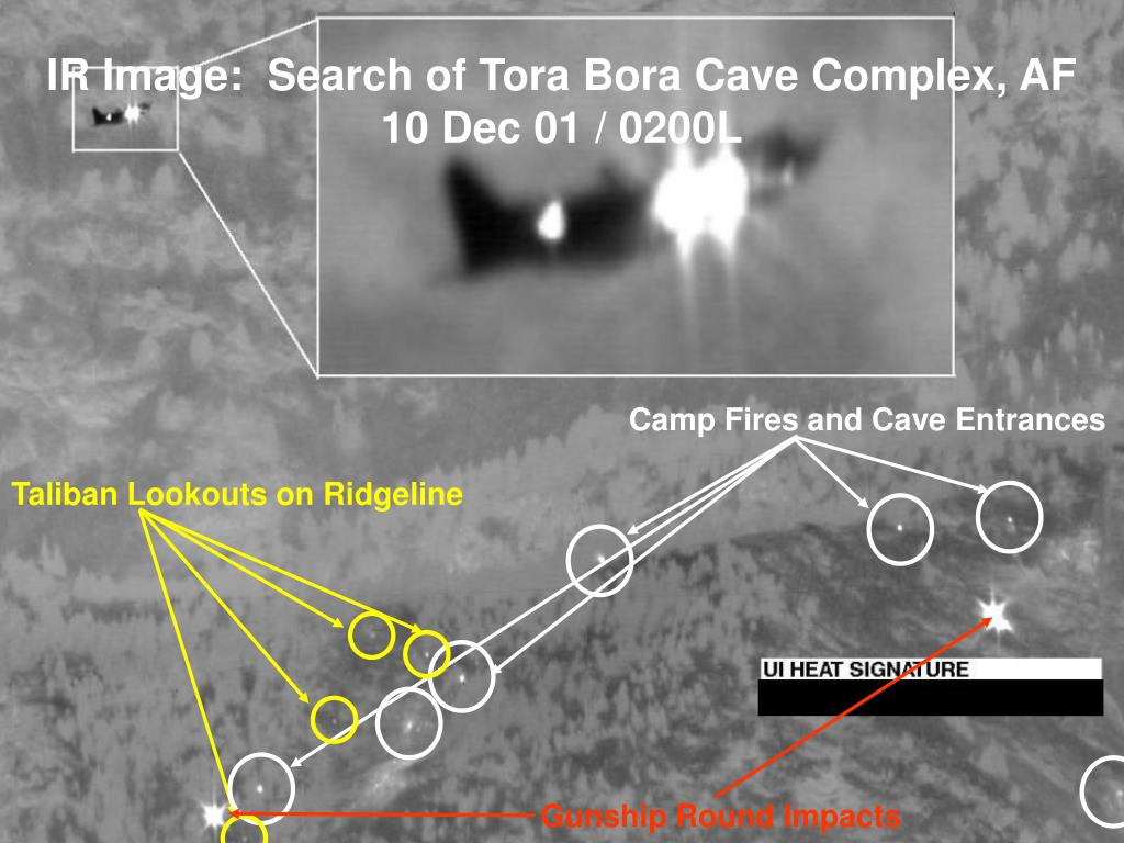 IR Image:  Search of Tora Bora Cave Complex, AF 10 Dec 01 / 0200L