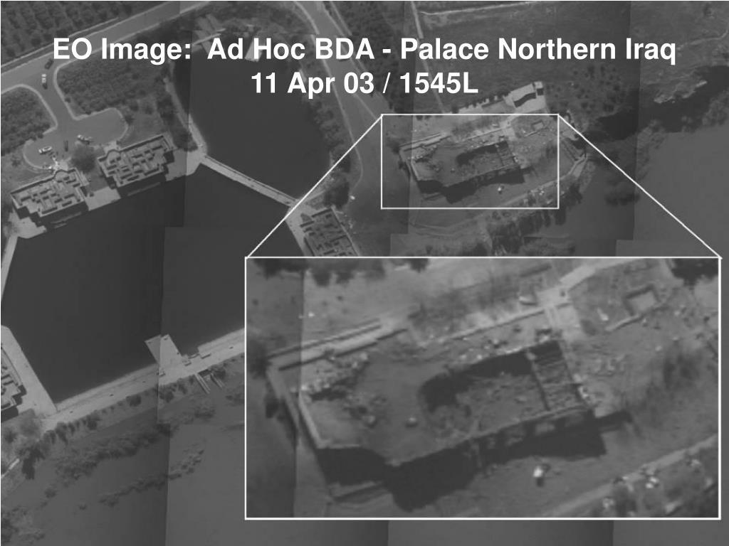 EO Image:  Ad Hoc BDA - Palace Northern Iraq 11 Apr 03 / 1545L