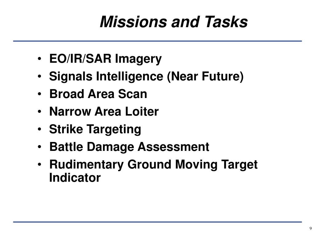 Missions and Tasks