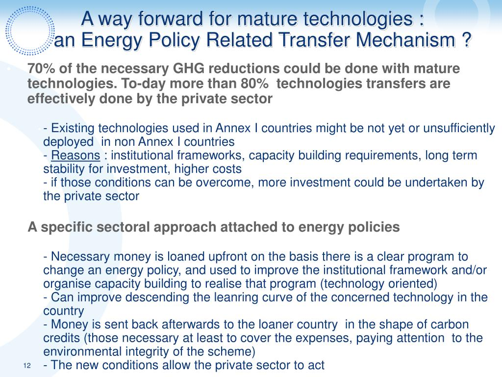 A way forward for mature technologies :