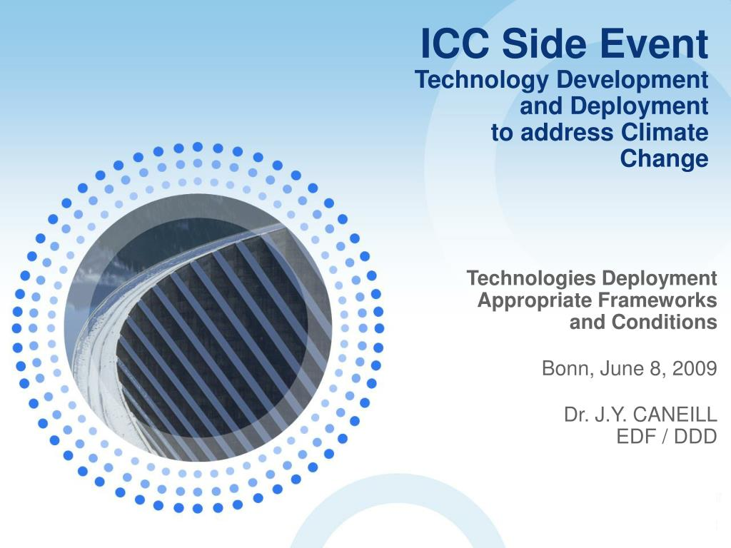 icc side event technology development and deployment to address climate change l.