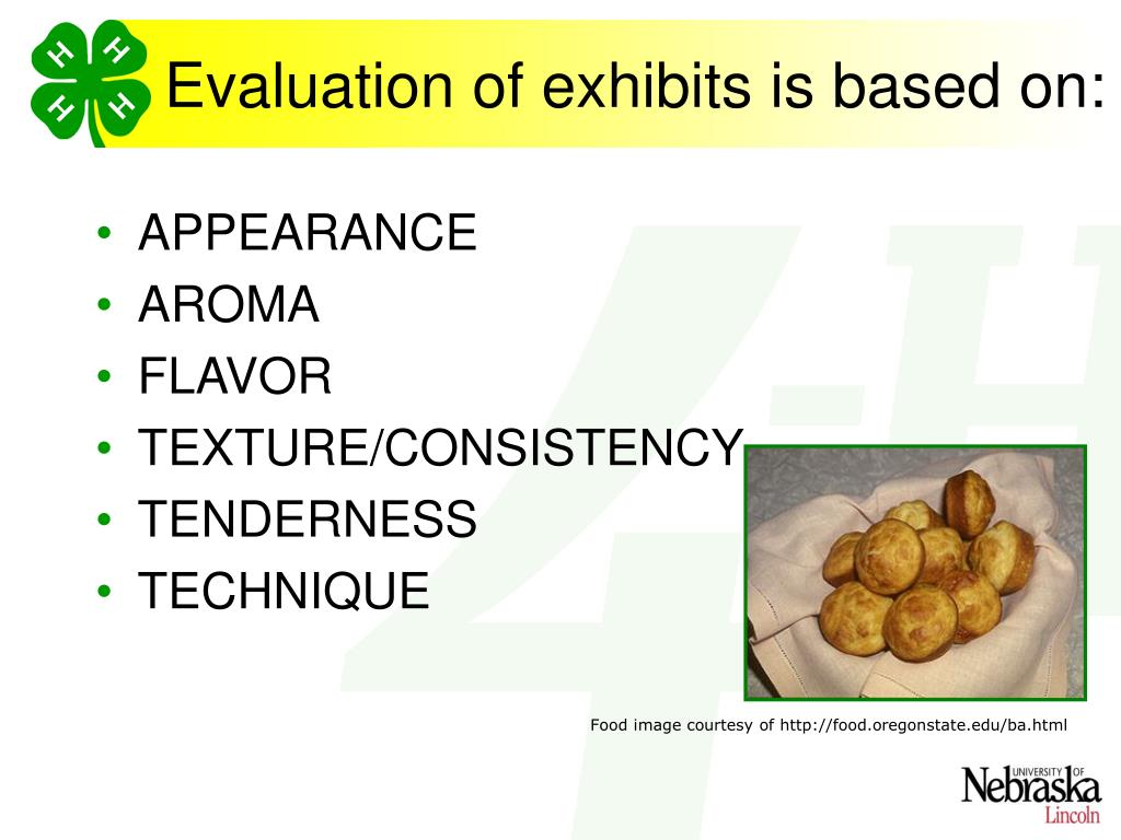 Evaluation of exhibits is based on: