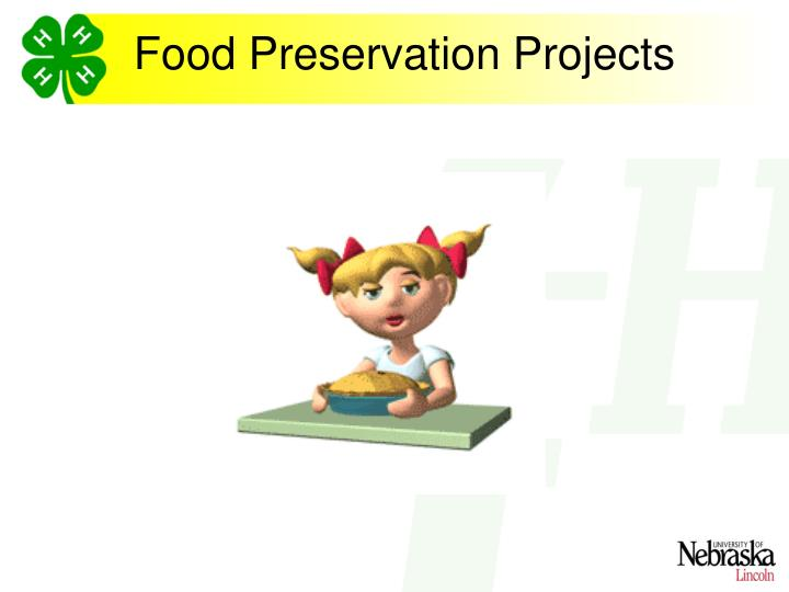 Food preservation projects