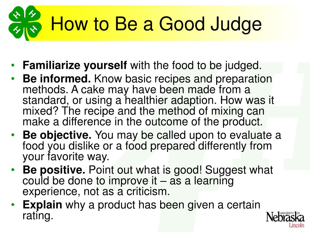 How to Be a Good Judge