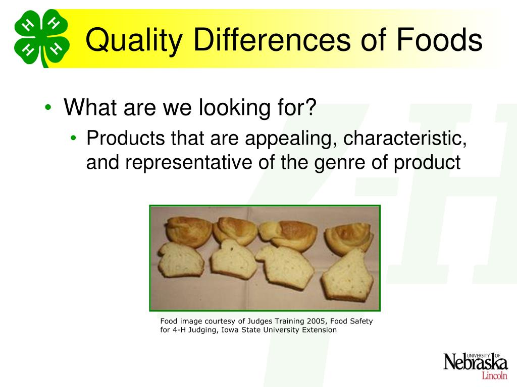 Quality Differences of Foods