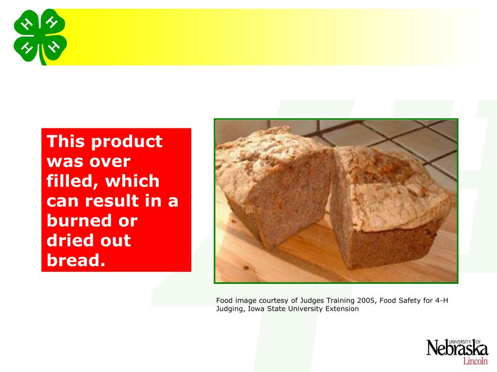 This product was over filled, which can result in a burned or dried out bread.