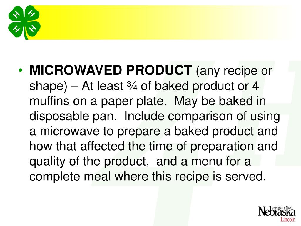 MICROWAVED PRODUCT