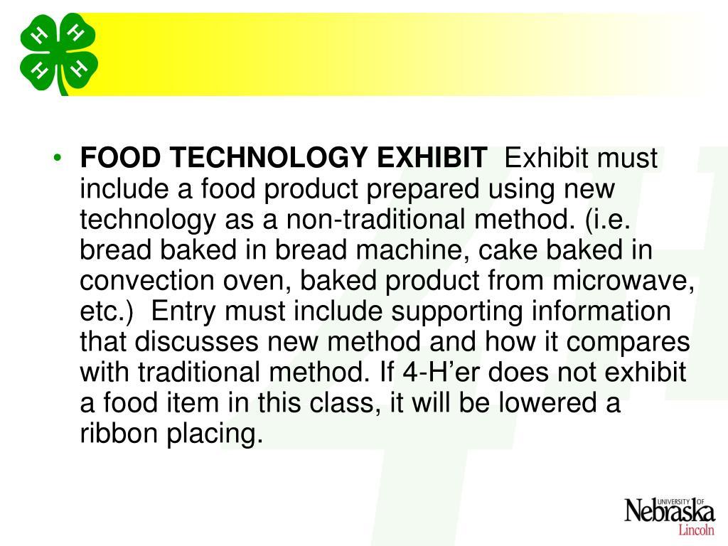 FOOD TECHNOLOGY EXHIBIT