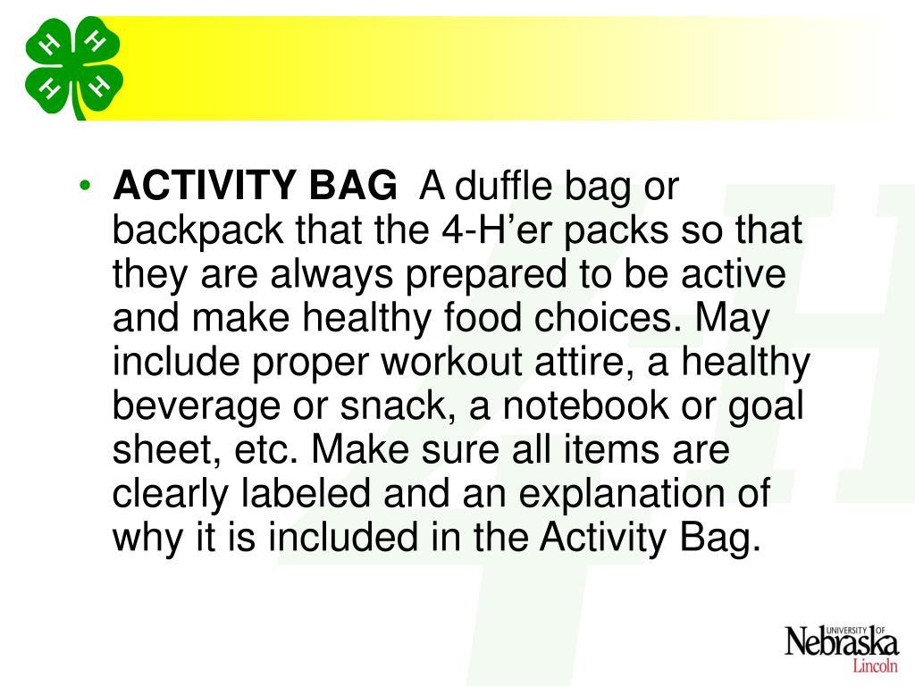 ACTIVITY BAG