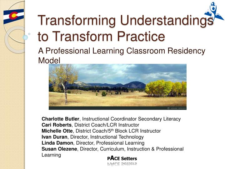 transforming understandings to transform practice n.