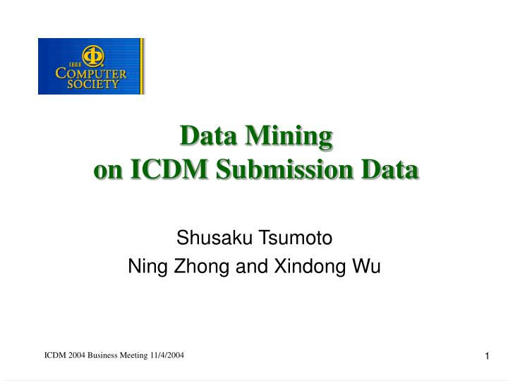 data mining on icdm submission data n.