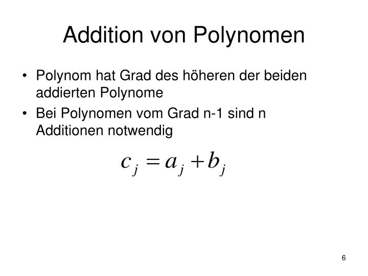 Addition von Polynomen