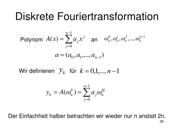 Diskrete Fouriertransformation