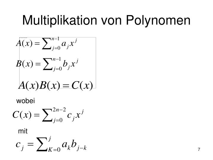 Multiplikation von Polynomen