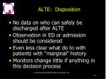 alte disposition