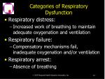 categories of respiratory dysfunction