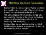 mechanism of action of hyaluronidase