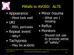 pitfalls to avoid alte