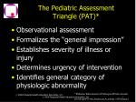 the pediatric assessment triangle pat