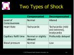 two types of shock