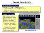 example game freeciv chance adversarial imperfect information game