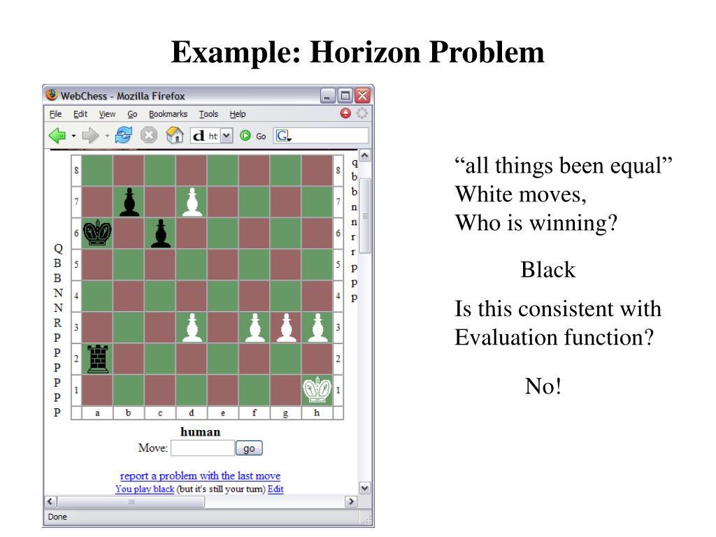 Example: Horizon Problem