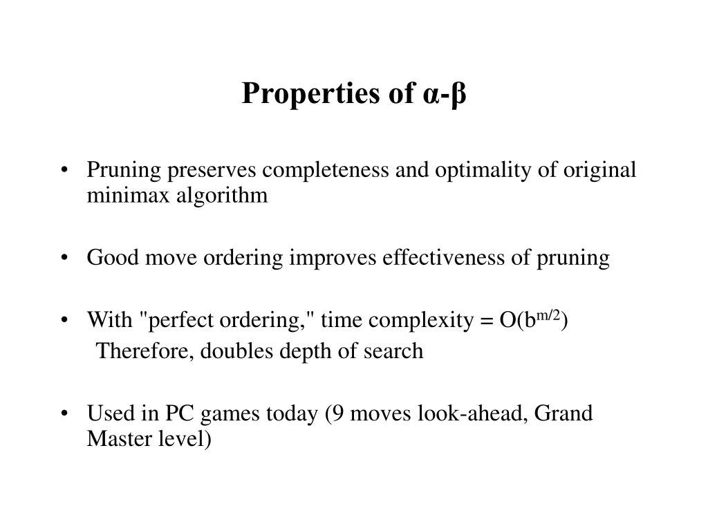 Properties of α-β