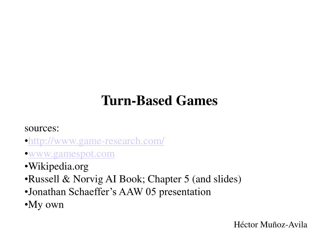turn based games l.